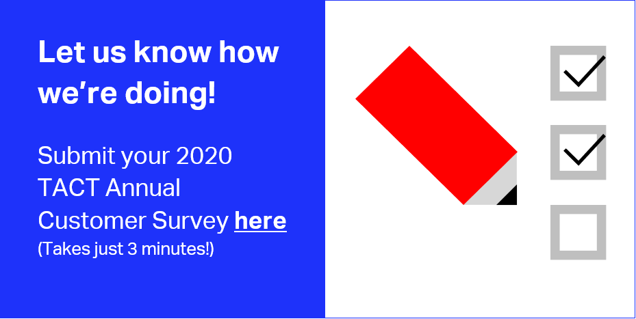 TACT 2020 Customer Survey